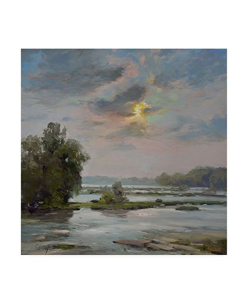 "Trademark Global Chuck Larivey James River from Belle Isle II Canvas Art - 27"" x 33"""