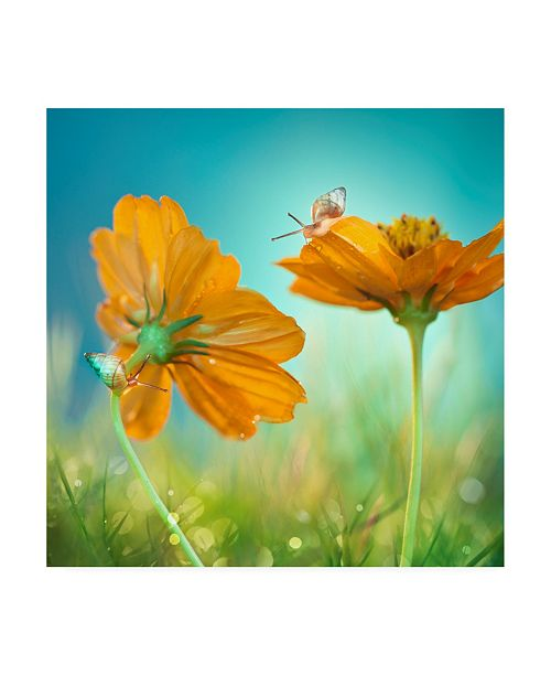 """Trademark Global Peiling Lee Play Time Flowers Canvas Art - 15"""" x 20"""""""