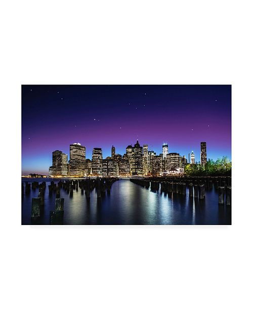 "Trademark Global Nanouk El Gamal New York Sky Line Canvas Art - 37"" x 49"""