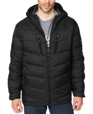 Hawke & Co. Outfitter Men's Packable Chevron Parka In Black