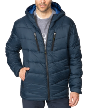 Hawke & Co. Outfitter Men's Packable Chevron Parka In Navy