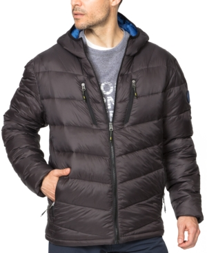 Hawke & Co. Outfitter Men's Packable Chevron Parka In Carbon
