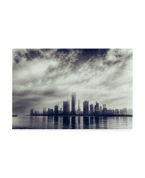 "Trademark Global Mohamed Kazzaz Abu Dhabi Skyline Canvas Art - 15"" x 20"""