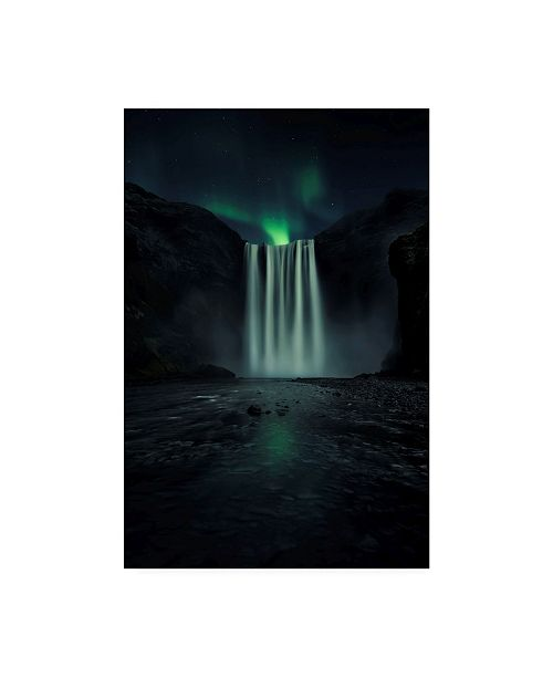 "Trademark Global Jorge Ruiz Dueso Green Night Canvas Art - 15"" x 20"""