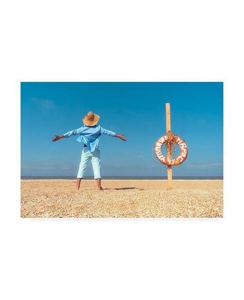 "Trademark Global Mikhail Potapov Coastline Vacation Canvas Art - 37"" x 49"""