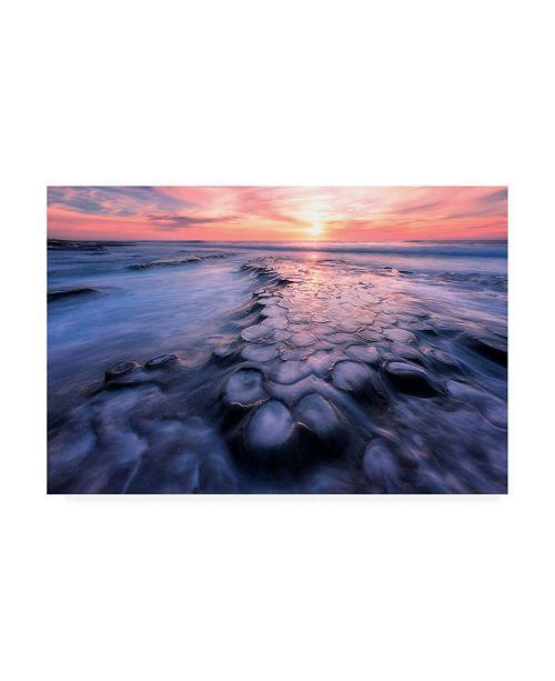 "Trademark Global Wenge Shi Flows Rocky Coastline Canvas Art - 20"" x 25"""