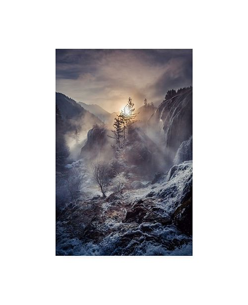 "Trademark Global Qiye Jiuzhaigou China Mountain Canvas Art - 20"" x 25"""