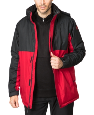 Hawke & Co. Outfitter Men's Colorblocked Parka In Carbon/chillipepper