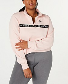 Air Plus Size Zip Cropped Top