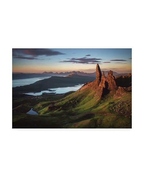 "Trademark Global Jean Claude Castor Scotland Old Man of Storr Canvas Art - 20"" x 25"""