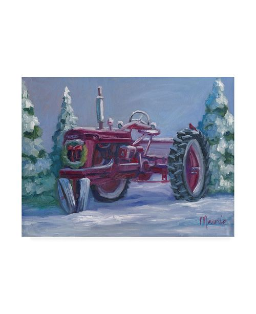 "Trademark Global Marnie Bourque Farmall Fresh Snow Canvas Art - 20"" x 25"""