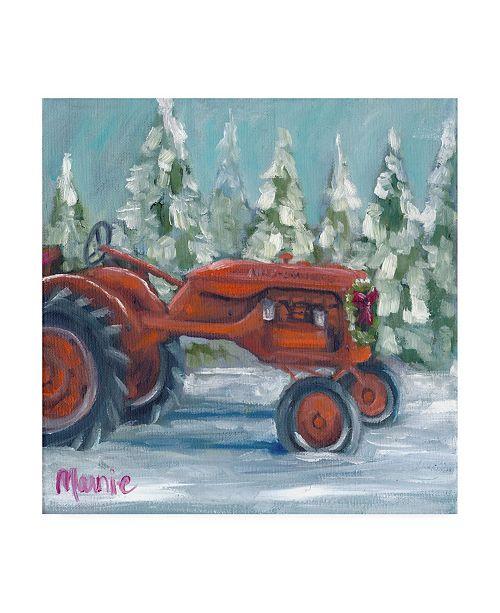"Trademark Global Marnie Bourque Tractor 4 Seasons Allis Chalmers Holiday Canvas Art - 27"" x 33"""