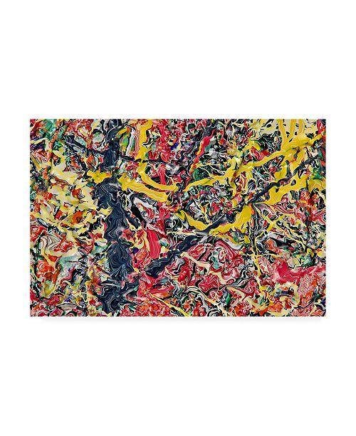 "Trademark Global Mark Lovejoy Abstract Splatters Lovejoy 6 Canvas Art - 20"" x 25"""