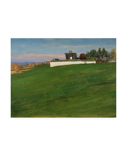 "Trademark Global Michael Budden Autumn Farm Barn on the Hill Canvas Art - 20"" x 25"""