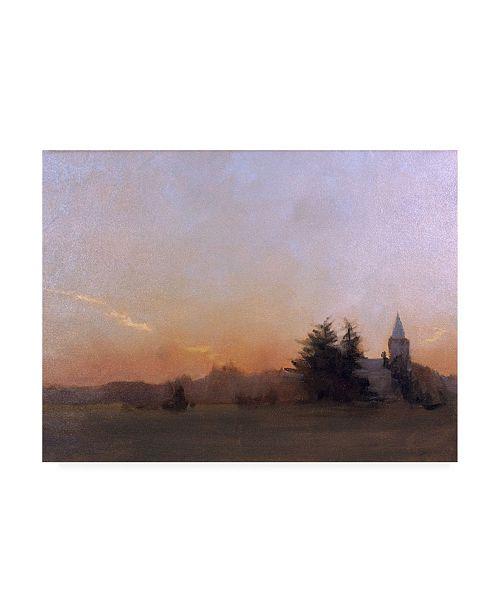"""Trademark Global Michael Budden Evening Dark Landscape Canvas Art - 20"""" x 25"""""""