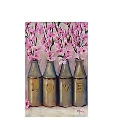 "Marnie Bourque Love Springtime Glass Jars Canvas Art - 15"" x 20"""