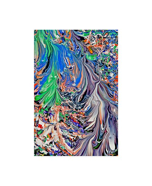 "Trademark Global Mark Lovejoy Abstract Splatters Lovejoy 36 Canvas Art - 20"" x 25"""