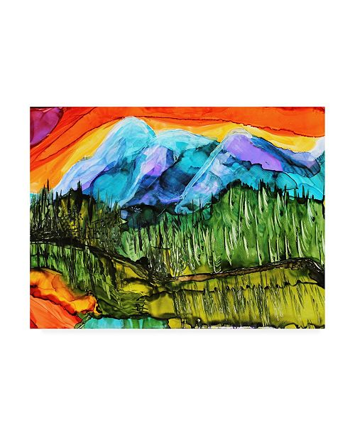 "Trademark Global Michelle Mccullough Magic Mountain Canvas Art - 20"" x 25"""