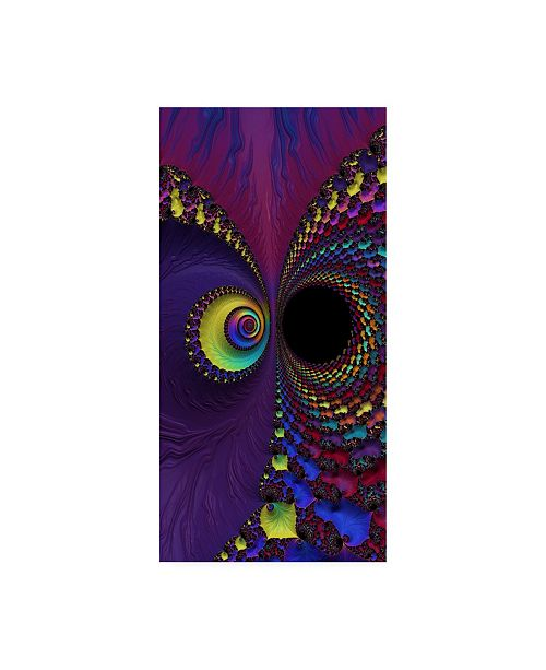 """Trademark Global Michelle Mccullough Divided Abstract Canvas Art - 20"""" x 25"""""""