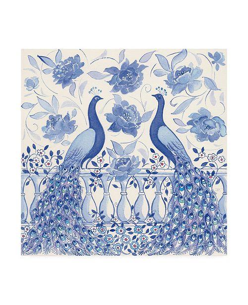 """Trademark Global Miranda Thomas Peacock Garden VI Canvas Art - 20"""" x 25"""""""
