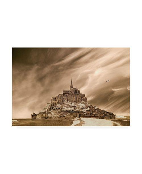 "Trademark Global Monte Nagler Mont St Michel Mont St Michel France Canvas Art - 37"" x 49"""