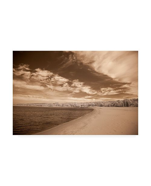 "Trademark Global Monte Nagler Coast Under Clouds Sepia Tone Canvas Art - 37"" x 49"""