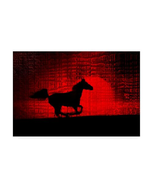 "Trademark Global Monte Nagler Red Runner Canvas Art - 15"" x 20"""