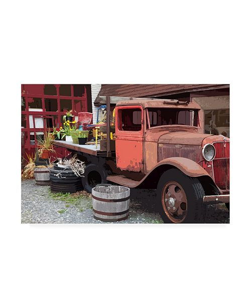 "Trademark Global Monte Nagler Memories Truck Canvas Art - 15"" x 20"""