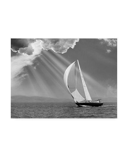 "Trademark Global Monte Nagler Sailing Under Sunbeams Lanse Bay Michigan Canvas Art - 20"" x 25"""
