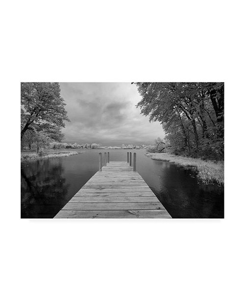 "Trademark Global Monte Nagler Dock at St. Joseph River Centreville Michigan Canvas Art - 20"" x 25"""