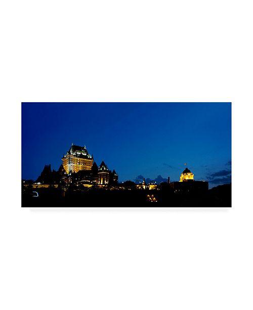 "Trademark Global Monte Nagler Quebec City at Night Quebec City Ontario Color Canvas Art - 37"" x 49"""