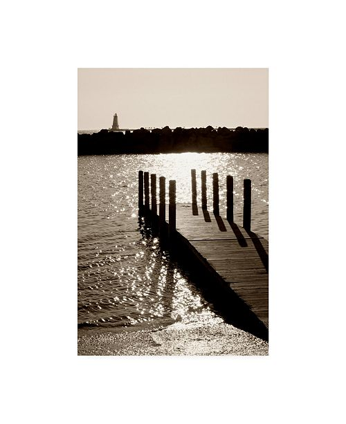 "Trademark Global Monte Nagler Ludington Lighthouse Ir Vertical Canvas Art - 37"" x 49"""