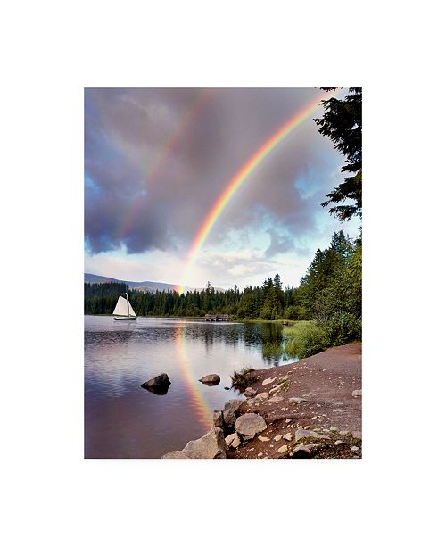 "Trademark Global Monte Nagler Sailing Under Rainbows Oregon Color Canvas Art - 37"" x 49"""