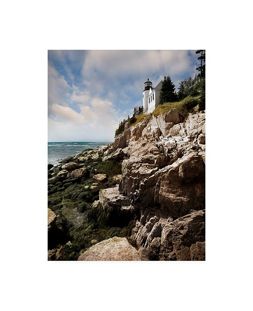 "Trademark Global Monte Nagler Bass Harbor Head Lighthouse and Foothill Canvas Art - 20"" x 25"""