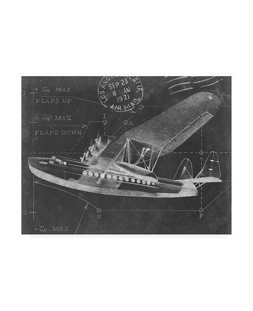 "Trademark Global Ethan Harper Flight Schematic III Canvas Art - 20"" x 25"""