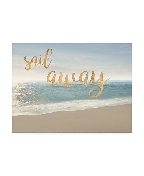 "Trademark Global James Mcloughlin Beach Sail Away Canvas Art - 37"" x 49"""