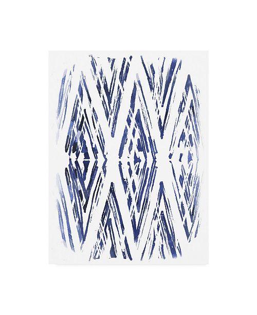 "Trademark Global June Erica Vess Indigo Batik Vignette VI Canvas Art - 20"" x 25"""