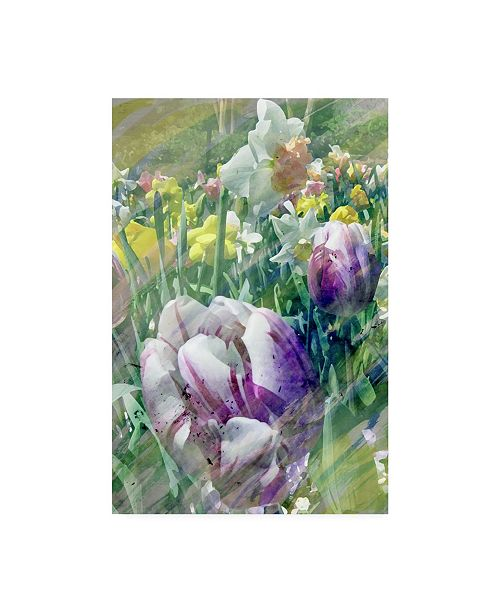 "Trademark Global Pam Ilosky Spring at Giverny I Canvas Art - 37"" x 49"""
