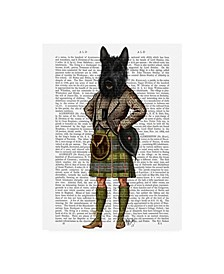 "Fab Funky Scottish Terrier in Kilt Canvas Art - 19.5"" x 26"""