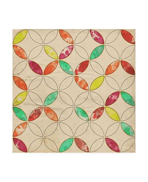 "Trademark Global Irena Orlov Geometric Color Shape I Canvas Art - 15.5"" x 21"""