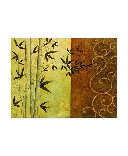 "Trademark Global Pablo Esteban Bamboo Silhouette 1 Canvas Art - 19.5"" x 26"""