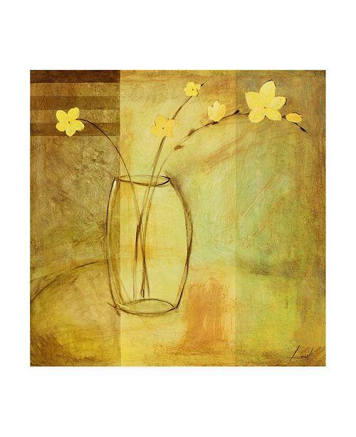 "Trademark Global Pablo Esteban Flowers in Glass Vase 2 Canvas Art - 15.5"" x 21"""