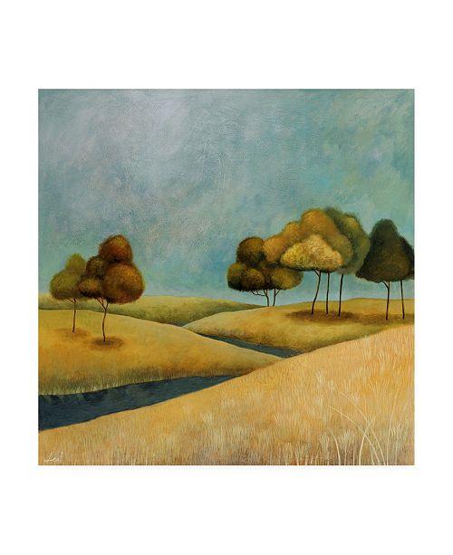 "Trademark Global Pablo Esteban Rounded Trees on Hills 2 Canvas Art - 15.5"" x 21"""