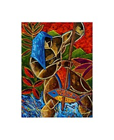 """Oscar Ortiz Guarani Hombre De Familia Canvas Art - 15.5"""" x 21"""""""