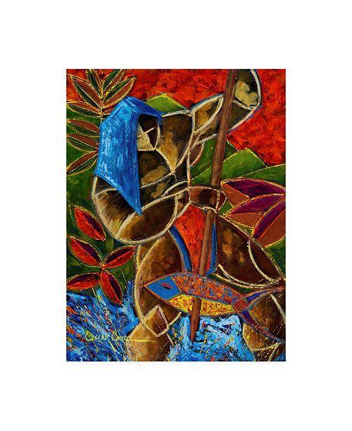 """Trademark Global Oscar Ortiz Guarani Hombre De Familia Canvas Art - 15.5"""" x 21"""""""