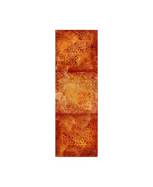 "Trademark Global Pablo Esteban Stencils Over Red Tones 6 Canvas Art - 15.5"" x 21"""