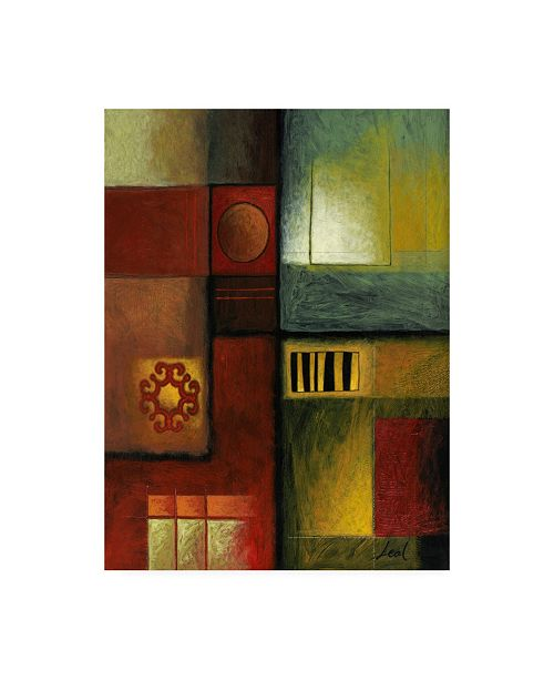 "Trademark Global Pablo Esteban Bold Gematric Panels 3 Canvas Art - 15.5"" x 21"""