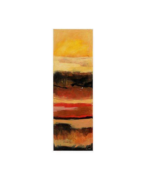 "Trademark Global Pablo Esteban Yellow Red Wave Pattern 1 Canvas Art - 15.5"" x 21"""