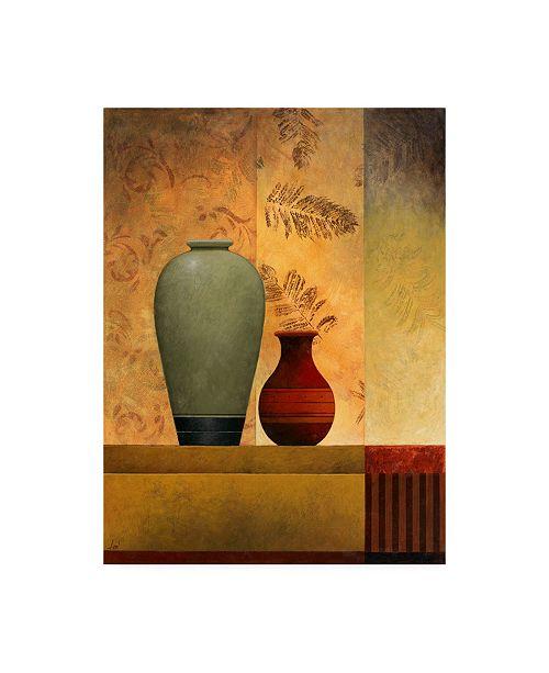 "Trademark Global Pablo Esteban Vases Over Panels 2 Canvas Art - 15.5"" x 21"""