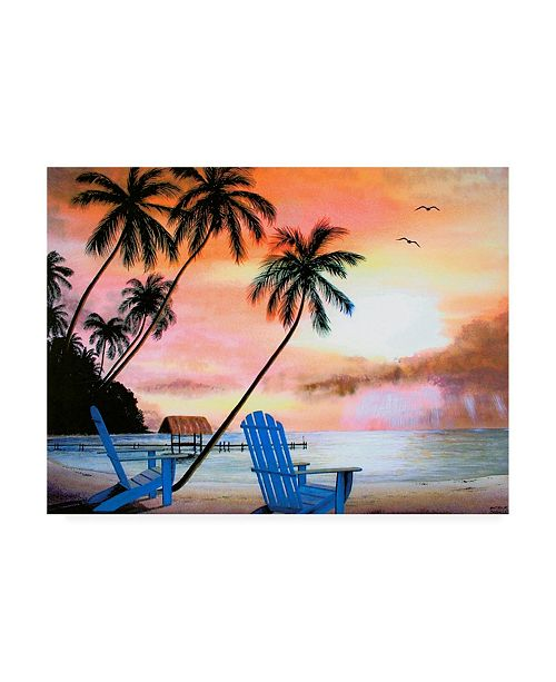 "Trademark Global Patrick Sullivan Tropical Morning Canvas Art - 15.5"" x 21"""